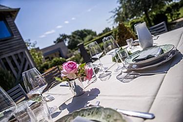 Déjeuner au jardin Atelier Pic
